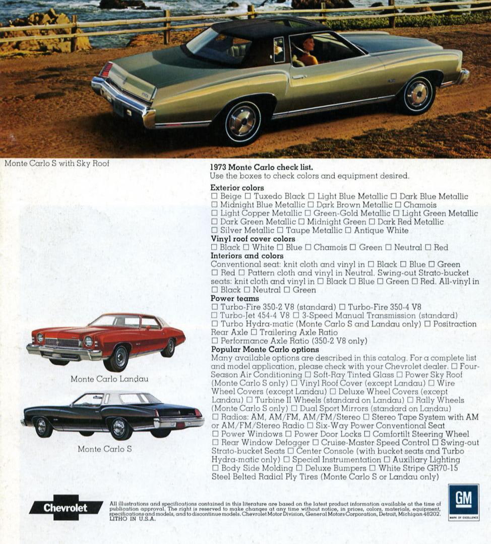 Chevrolet Product Service Publication 1987 Index