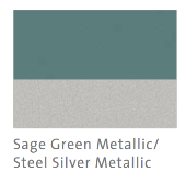 Sage Green Met and Steel Silver Met