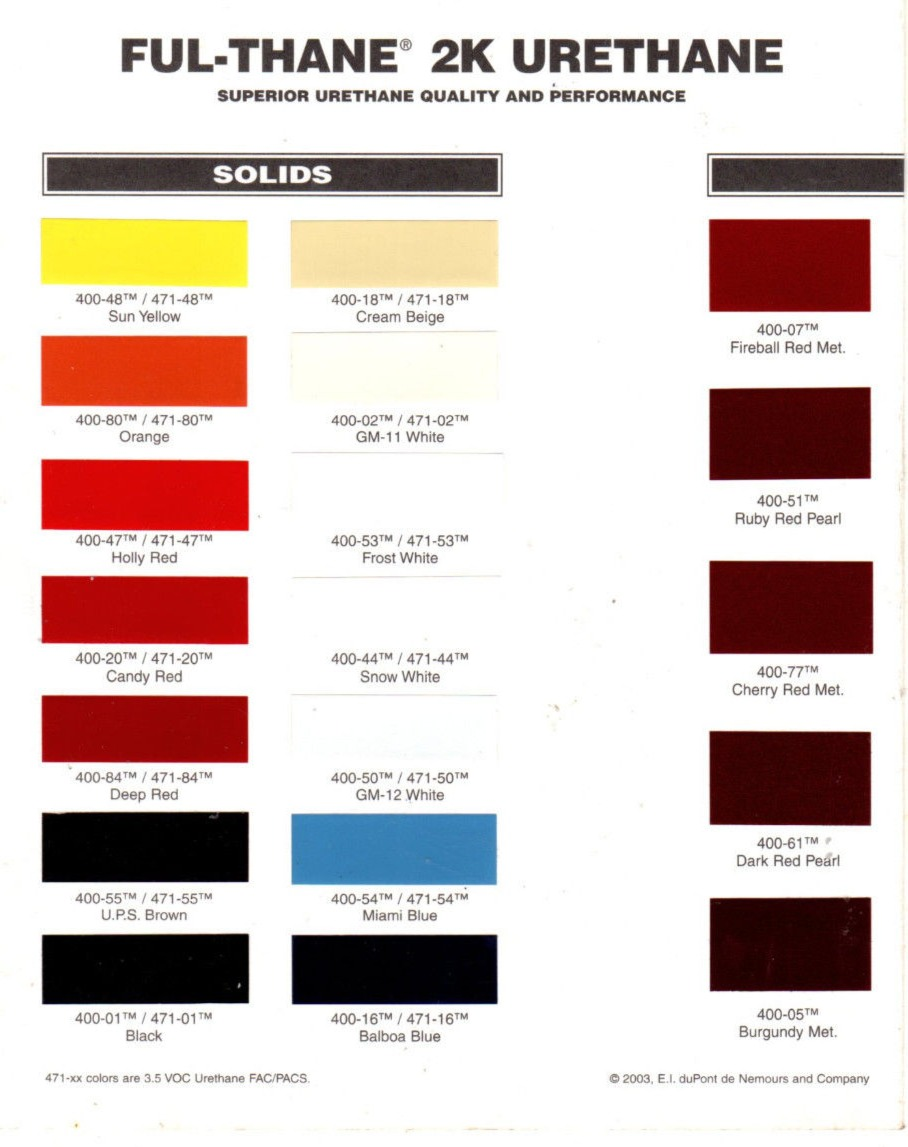 Nason Ful-Thane Solid Color Chart